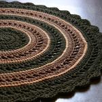 Как вязать крючком круглый коврик из полиэфирного шнура