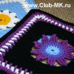 Вяжем вместе Бабушкин квадрат Blooming Lace