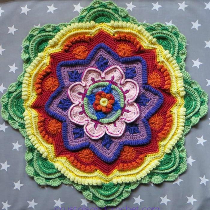 Mandala Madness. Часть 5. Как вязать мандалу крючком